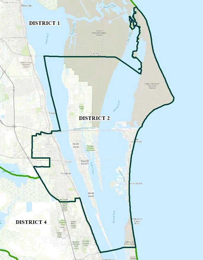 Map of Brevard County District Two
