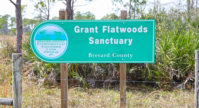 Grant Flatwoods Sanctuary Sign
