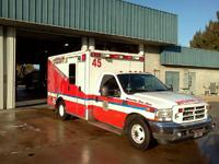 Ambulance in front of Station 45