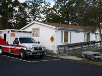 Ambulance in front of Station 88
