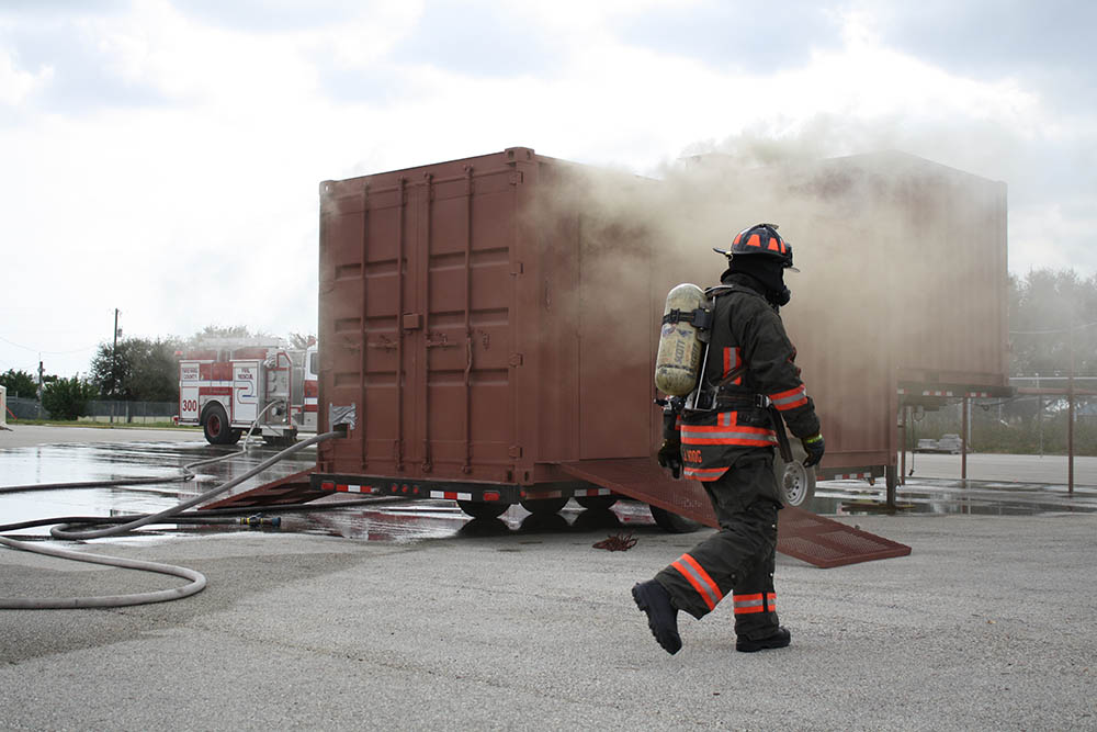 brevard county fire rescue flashover simulator