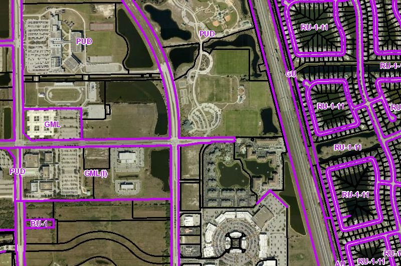 Screenshot of Planning Zoning Map. Click link for details.