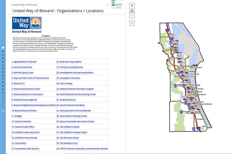 Screenshot of United Way Story Map. Click link for details.