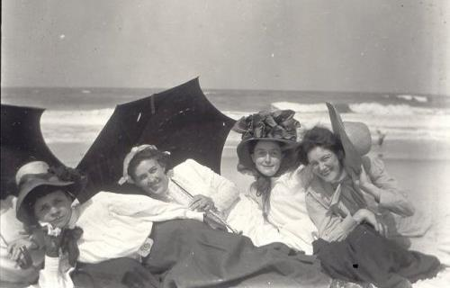 A group of Titusville's young women enjoy a day at the Canaveral seashore, circa 1915.