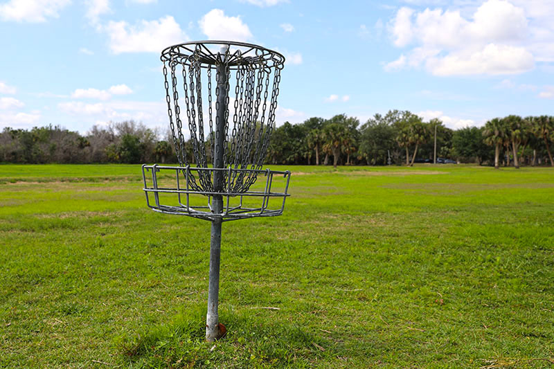 Disc Golf Course basket