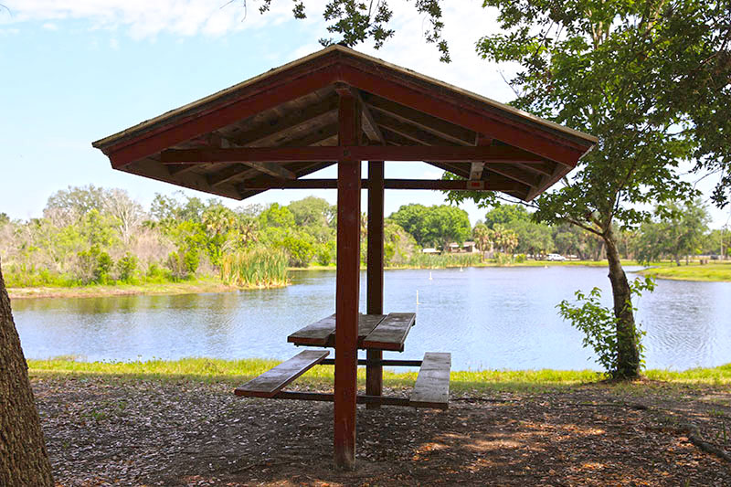 Covered Picnic area by water