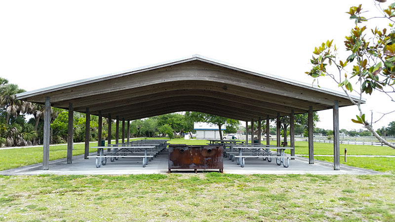 Large pavilion with grill