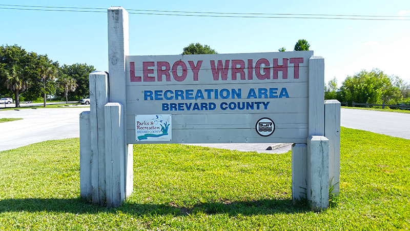 Leroy Wright Recreation Area sign