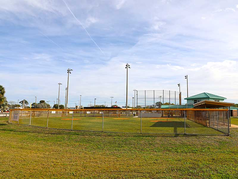 Baseball field outfield
