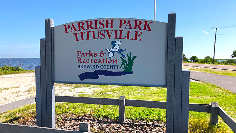 Parrish Park Titusville Sign