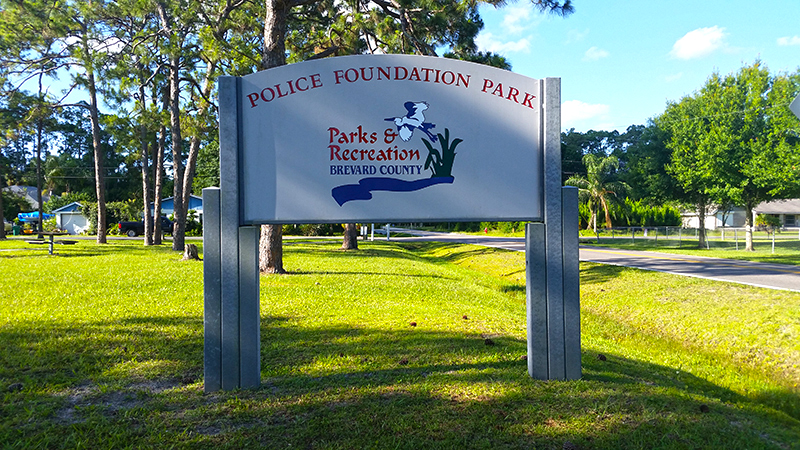 Police Foundation Park Sign
