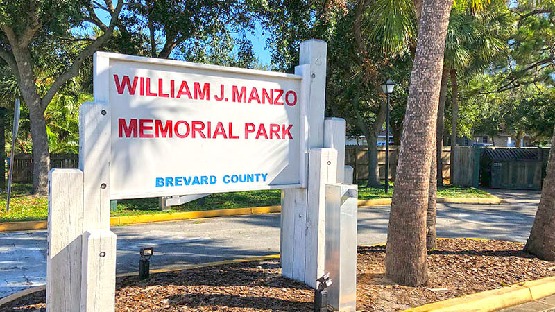 William J Manzo Memorial Park Sign