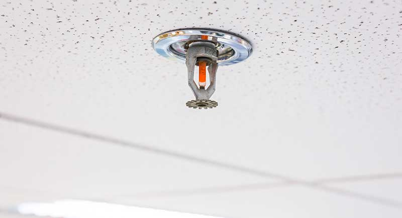 Fire Sprinkler, focus at selective.