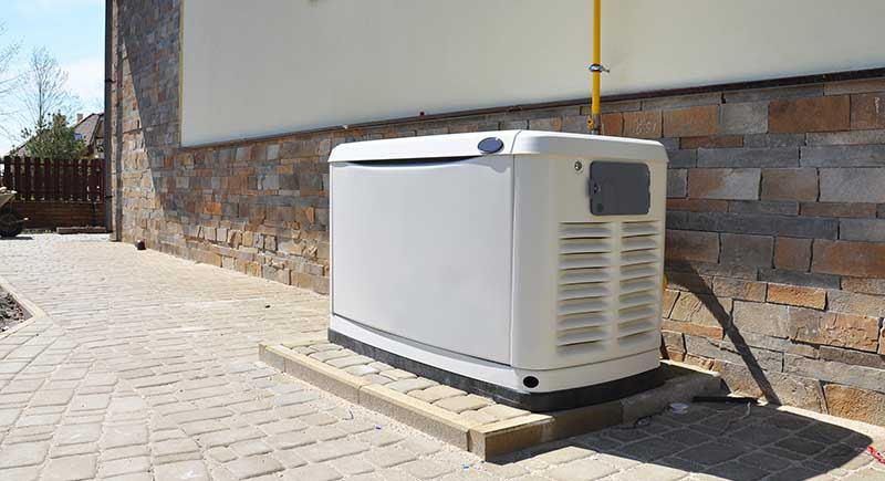 Big Backup Natural Gas Generator for House Building Outdoor.