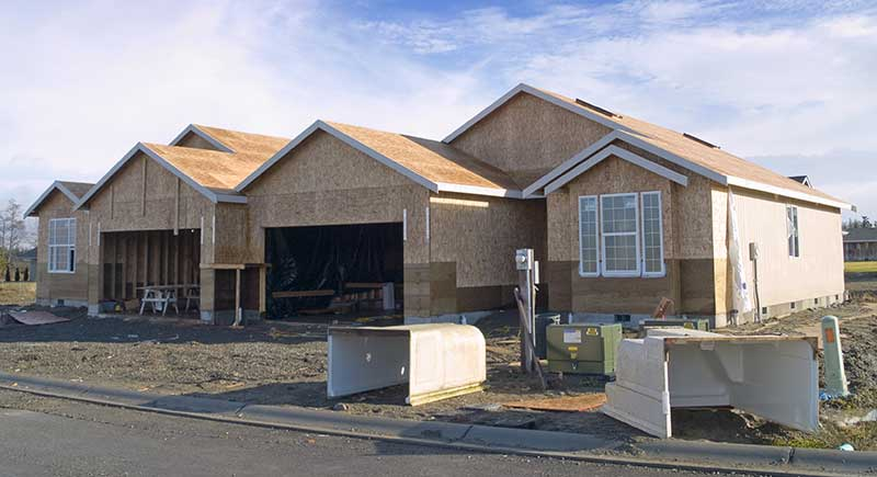 New construction of a duplex.