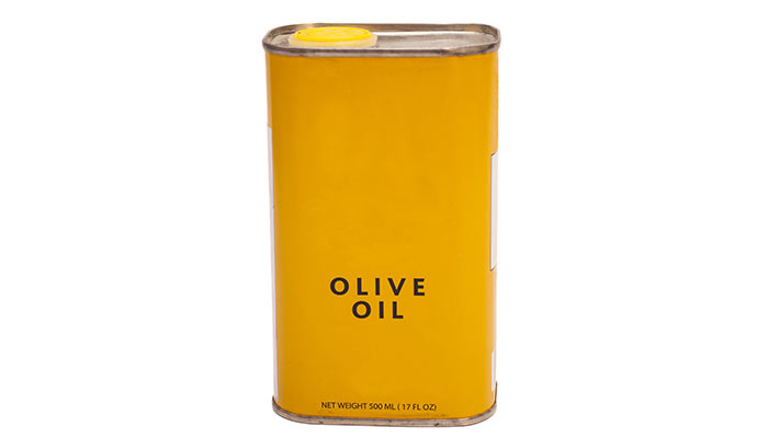 Can of olive oil