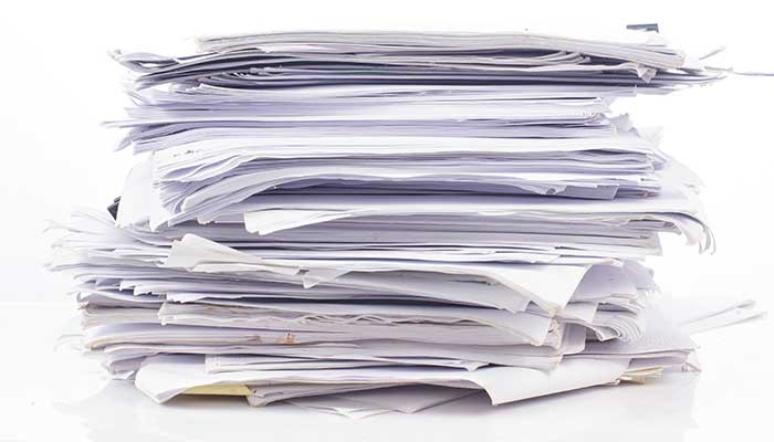 Stack of office paper