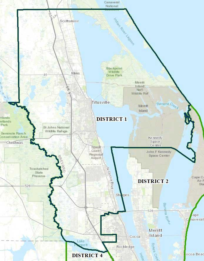 Map of Brevard County District One