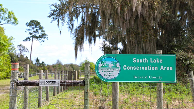 South Lake Convservation Area Sign