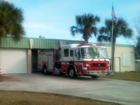 Fire truck in front of Station 42