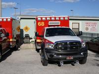 Fire rescue vehicle in front of  Station 67-68