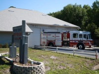 Fire truck in front of Station 29