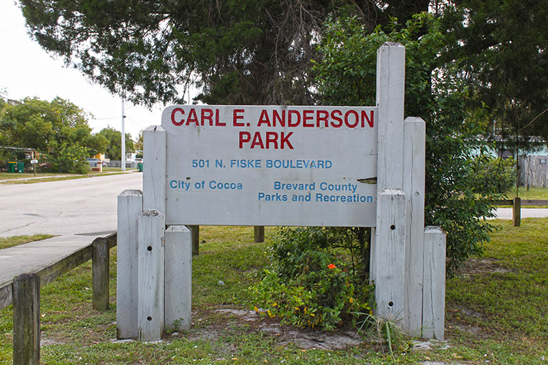 Carl E Anderson Park Sign