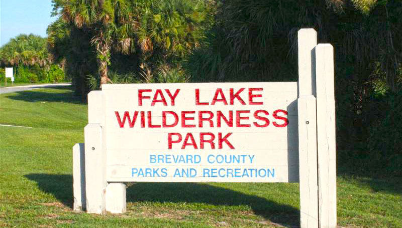 Fay Lake Wilderness Park sign