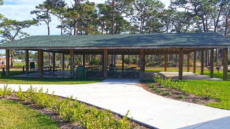 Large Pavilion with tables