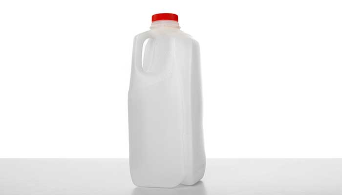 Half gallon jug of milk