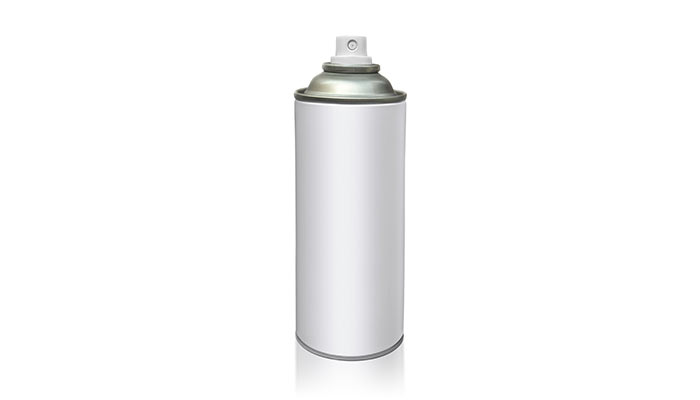 Metal spray can