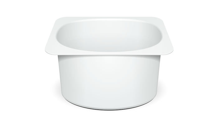 Plastic yogurt container