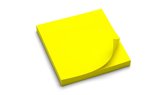 Pad of sticky notes